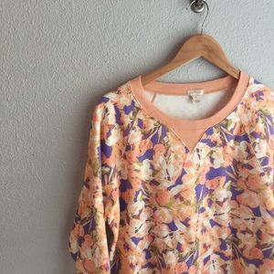 j. crew factory floral pullover sweatshirt